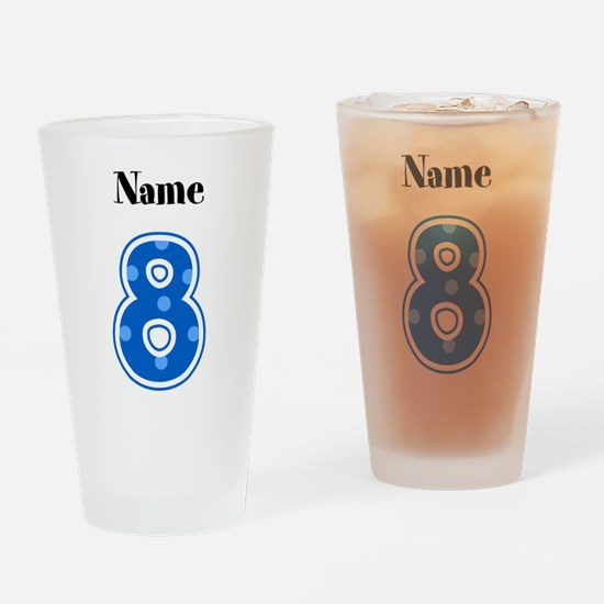 Personalized 8 Drinking Glass