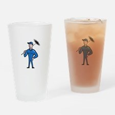 Chimney Sweeper Cleaner Worker Retro Drinking Glas
