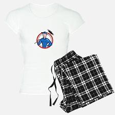 Chimney Sweeper Cleaner Worker Retro Pajamas