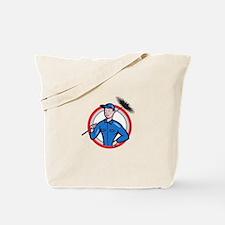 Chimney Sweeper Cleaner Worker Retro Tote Bag