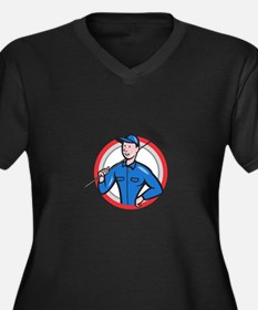 Chimney Sweeper Cleaner Worker Retro Plus Size T-S