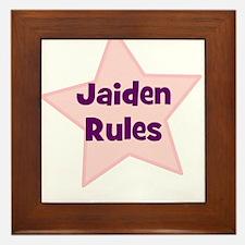 Jaiden Rules Framed Tile
