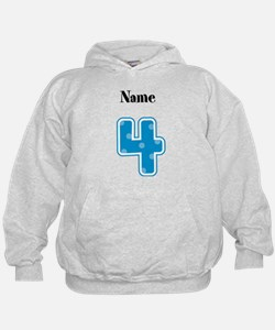 Personalized 4 Hoodie
