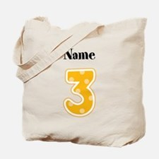 Personalized 3 Tote Bag