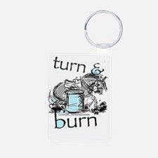 Turn and Burn Barrel Racing Keychains