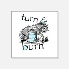 Turn and Burn Barrel Racing Sticker