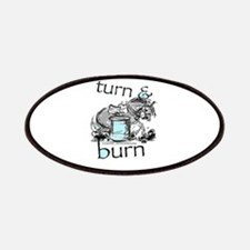 Turn and Burn Barrel Racing Patches