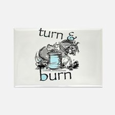 Turn and Burn Barrel Racing Rectangle Magnet