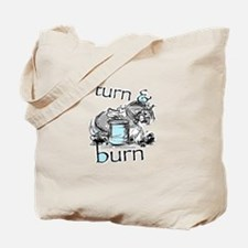 Turn and Burn Barrel Racing Tote Bag