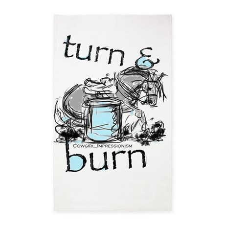 Turn and Burn Barrel Racing 3'x5' Area Rug