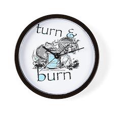 Turn and Burn Barrel Racing Wall Clock