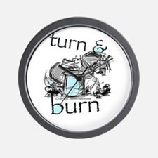Turn and Burn Barrel Racing Wall Clock