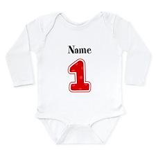 Personalized 1 Long Sleeve Infant Bodysuit