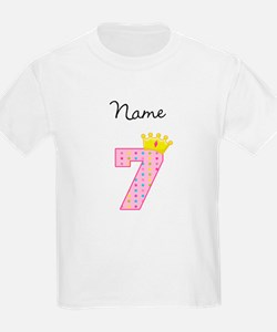 Personalized Princess 7 T-Shirt