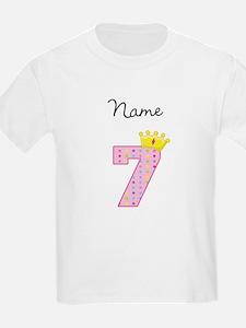 Personalized Princess 7 T-Shirt