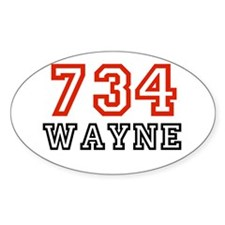 734 Oval Decal