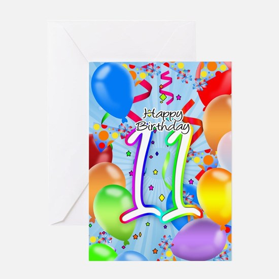11Th Birthday 11th Birthday Greeting Cards – 11th Birthday Cards