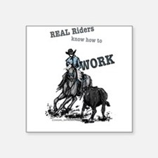 Real Western Cutting Horse Sticker