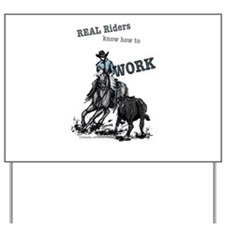 Real Western Cutting Horse Yard Sign