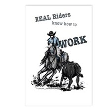 Real Western Cutting Horse Postcards (Package of 8