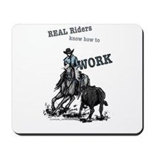 Real Western Cutting Horse Mousepad