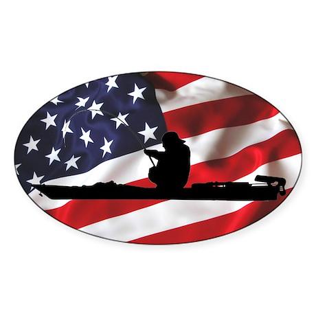 American Kayak Angler - Euro Sticker (Oval)