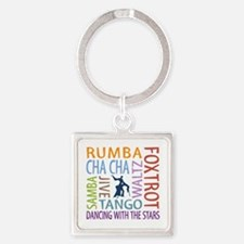Ballroom Dancing DTWS Square Keychain