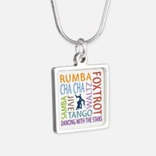 Ballroom Dancing DTWS Silver Square Necklace