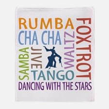 Ballroom Dancing DTWS Throw Blanket