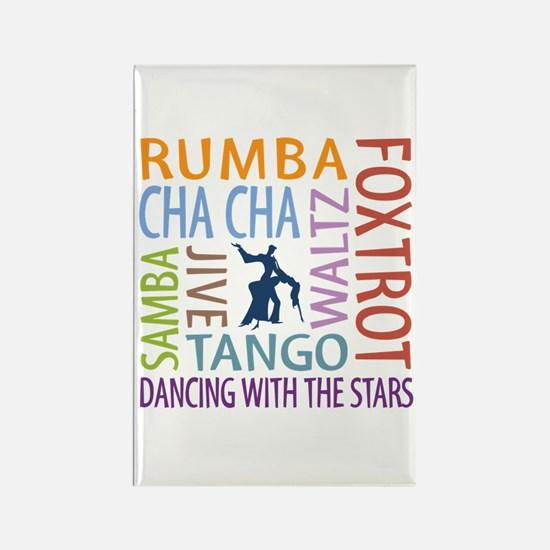 Ballroom Dancing DTWS Rectangle Magnet