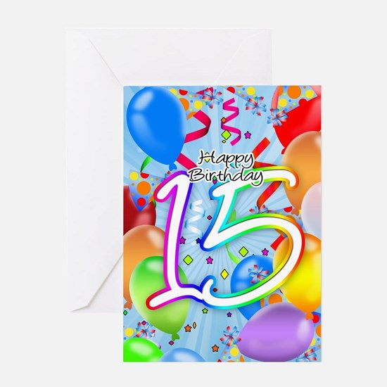 15Th Birthday Greeting Cards Thank You Cards and Custom Cards – 15th Birthday Card