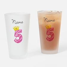Personalized Princess 5 Drinking Glass