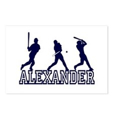 Baseball Alexander Personalized Postcards (Package