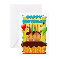 40th Birthday Cake Greeting Card