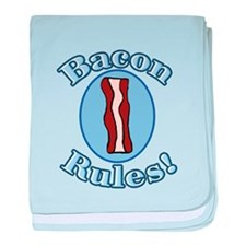 Bacon Rules baby blanket