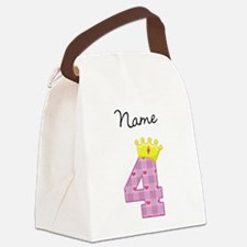 Personalized Princess 4 Canvas Lunch Bag