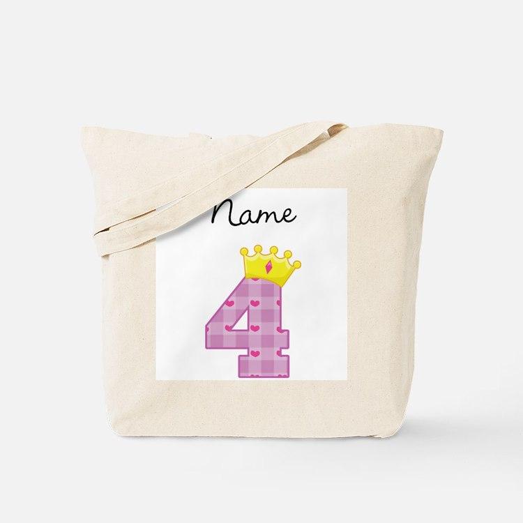 Personalized Princess 4 Tote Bag