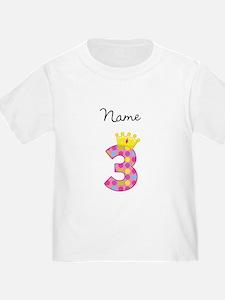 Personalized Princess 3 T-Shirt