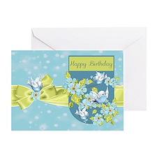 Bluebird Birthday Greeting Card
