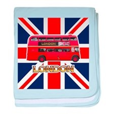 The London Bus baby blanket