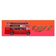 The London Bus Bumper Sticker