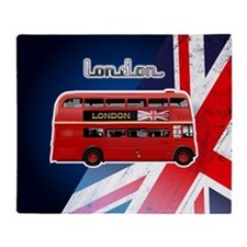 The London Bus Throw Blanket