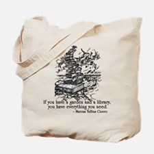 Cicero Library and Garden Quote Tote Bag