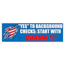 Background Checks Bumper Sticker