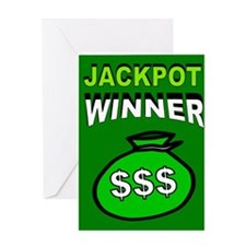 JACKPOT WINNER Greeting Card
