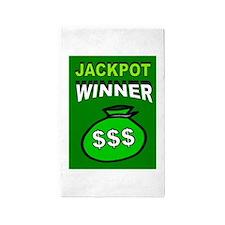 JACKPOT WINNER 3'x5' Area Rug