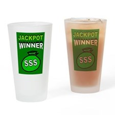 JACKPOT WINNER Drinking Glass