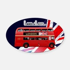 The London Bus Oval Car Magnet