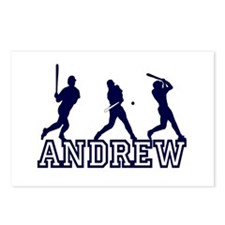 Baseball Andrew Personalized Postcards (Package of