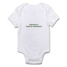 Happiness is being an EMBROID Infant Bodysuit